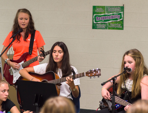 Group Performance at Music Summer Camp