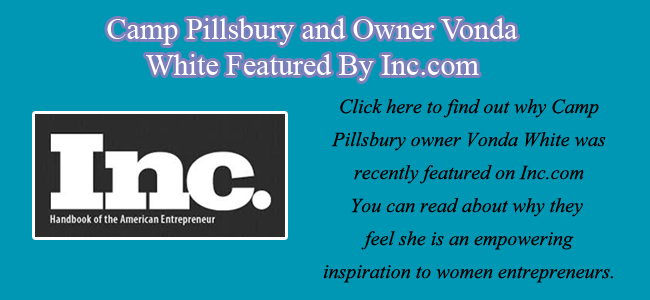Camp Pillsbury and Vonda White featured by Inc.com