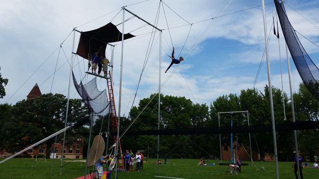 Circus Summer Camp - Trapeze Practice