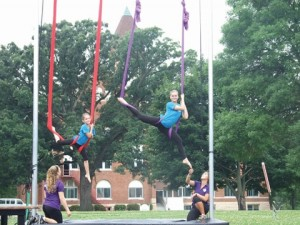 Campers learning Silks at Summer Camp in Minnesota