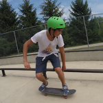Skate boarding is one elective summer camp activities
