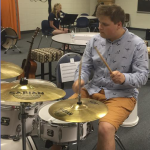 Playing Drums at Music Summer Camp
