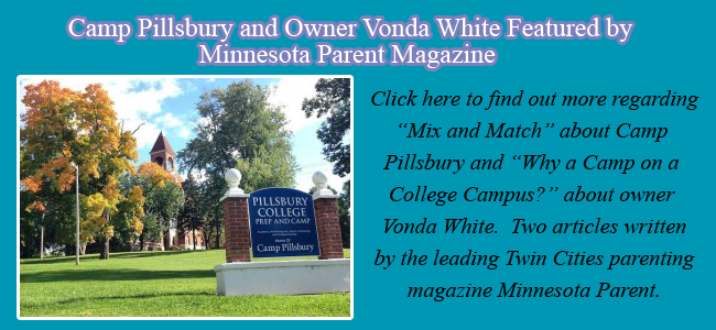 Camp Pillsbury and Vonda White featured by Minnesota Parent