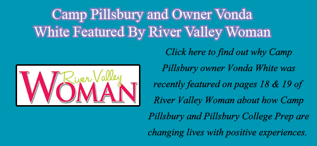 Camp Pillsbury and Vonda White featured by River Valley Woman