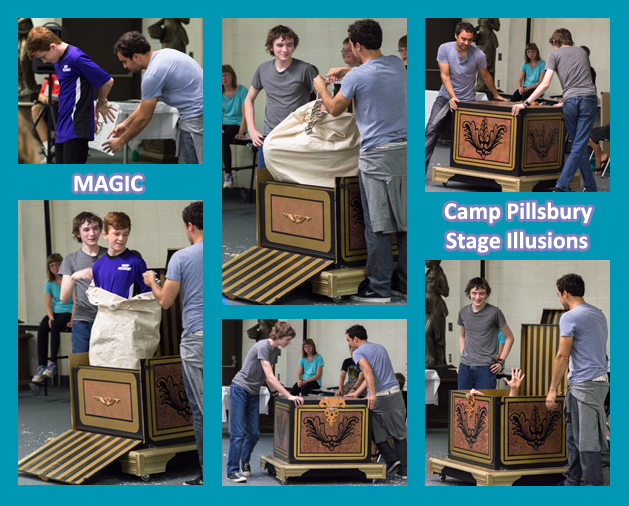 Stage Illusion Performance at Magic Summer Camp