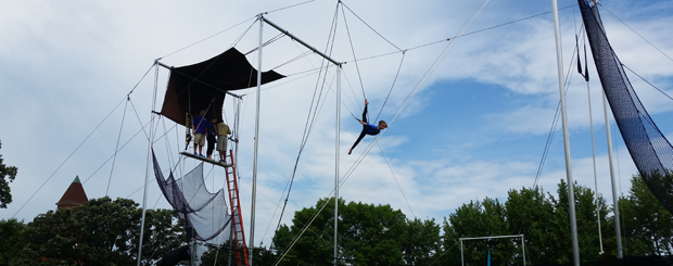 Camp Pillsbury Summer Camp Trapeze Lessons