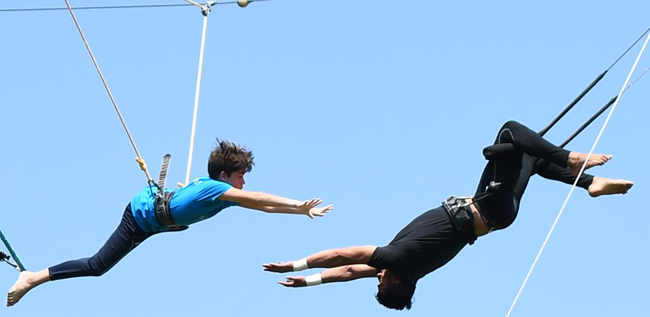 Kids learning trapeze instills self-confidence