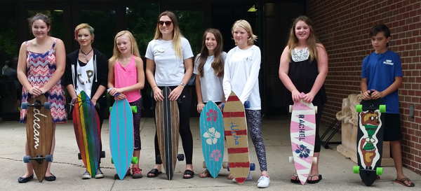 visual and Fine Arts Summer Camp - Campers Show Off Skateboards