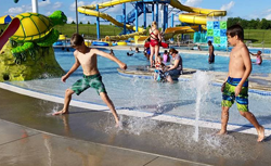 Summer Camp near Twin Cities visits water park with campers